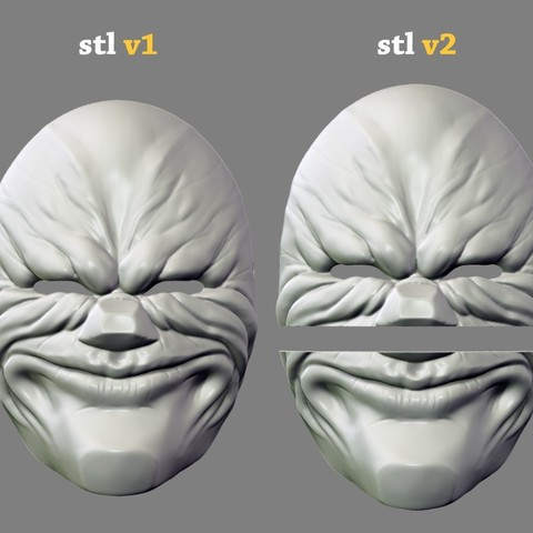 payday_mask_012.jpg Download STL file Payday 2 the Heist Dallas Game Mask Cosplay Halloween STL File for 3D Printing • 3D printable template, 3DPrintModelStoreSS