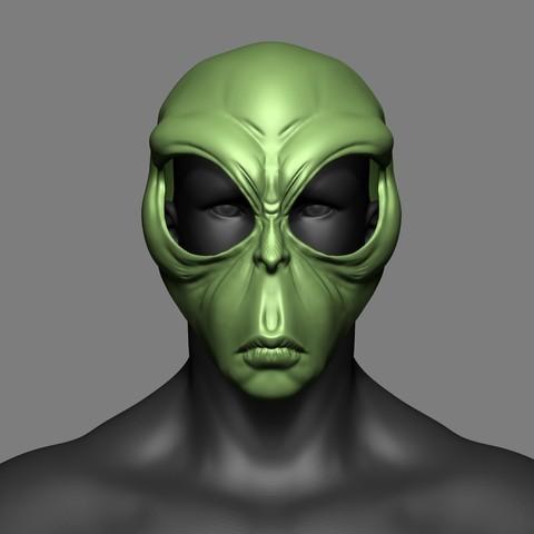Download 3D printer designs Alien Mask Cosplay STL File , 3DPrintModelStoreSS