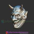 Download 3D printer designs Hannya Cosplay Halloween Mask - Japanese Mask Nohmen Special, 3DPrintModelStoreSS