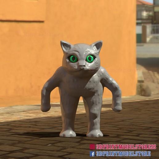 Download 3D printer designs Meme Cat - Cute Cat STL File 3D Printable, 3DPrintModelStoreSS