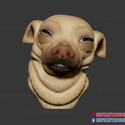 Download 3D printer templates Meme Dog Face - Doge Meme, 3DPrintModelStoreSS