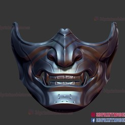 Descargar archivo STL Fantasma de la Máscara de Tsushima Modelo de impresión en 3D • Modelo para imprimir en 3D, 3DPrintModelStoreSS
