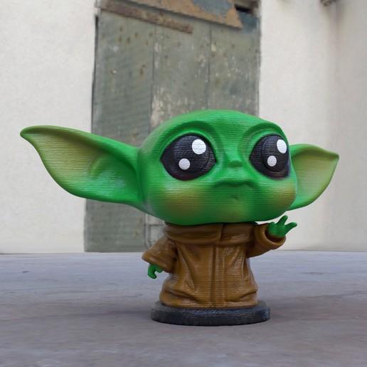 Descargar archivo STL La linda estatua del bebé Yoda STL esculpe el modelo de impresión en 3D • Plan para la impresión en 3D, 3DPrintModelStoreSS