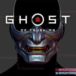 Download 3D printer designs Ghost of Tsushima Mask 3D print model, 3DPrintModelStoreSS