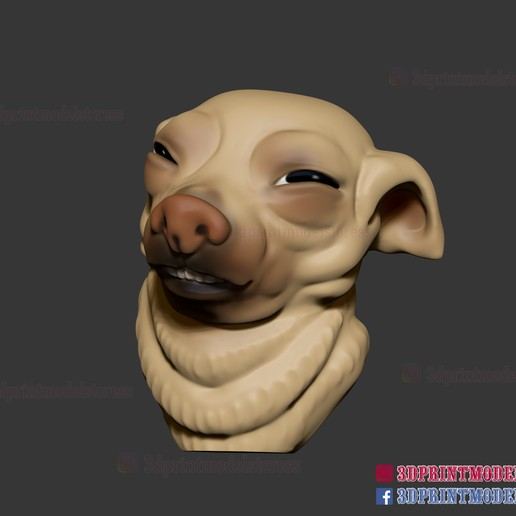Télécharger modèle 3D Meme Face de chien - Doge Meme, 3DPrintModelStoreSS