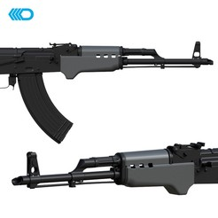 Download 3D printing models AIRSOFT - AK-47 HANDGUARD IV, JoseAugusto