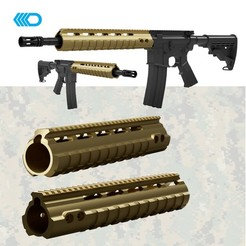 Download 3D printer model Airsoft - Noveske Style Handguard Futuristic  30cm , JoseAugusto