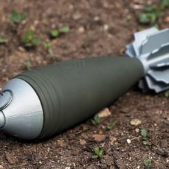 IMG_7400.JPG Télécharger fichier STL OBUS DE MORTIER DE 60 MM | C02 12G. CARTOUCHE • Design pour impression 3D, 3D_ARMY