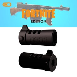 fortnine 1-01.jpg Download STL file Fortnite Flash Hider | Tommy Gun Style  • 3D printable object, 3D_ARMY