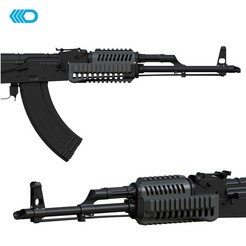Download 3D printer designs AIRSOFT - AK-47 HANDGUARD II, JoseAugusto