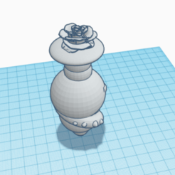 rose1.png Download OBJ file rose anal plug • 3D printing object, monsterpiece