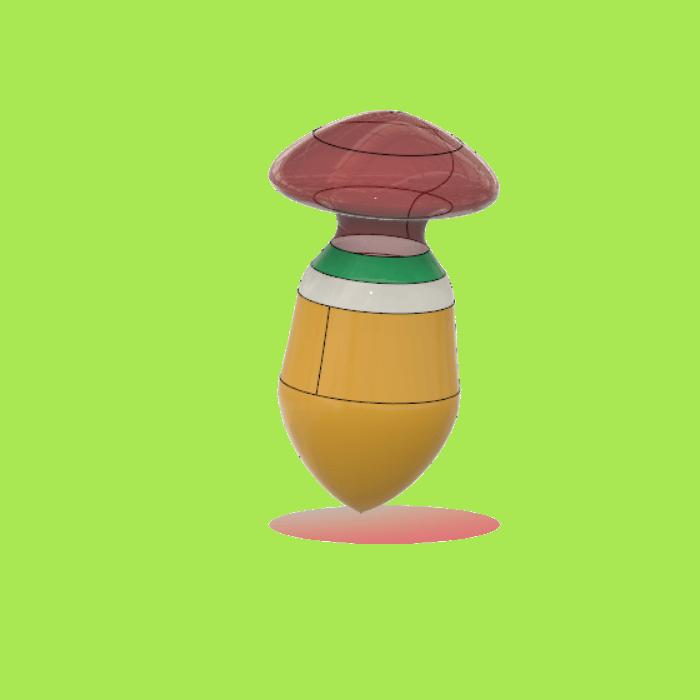 mushroom2.png Download free STL file mushroom buttplug • Design to 3D print, monsterpiece