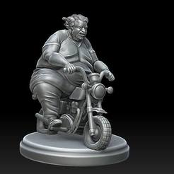 grubasek.jpg Download STL file Fat man on tiny bike • 3D printer template, payo