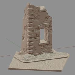 Descargar modelos 3D para imprimir Edificio en ruinas #2, payo