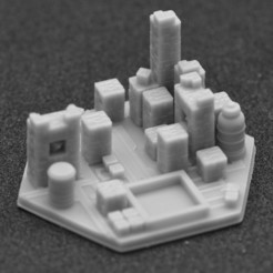 miasto 3.jpg Download STL file Terraforming Mars Generic City 3 • 3D printer object, payo