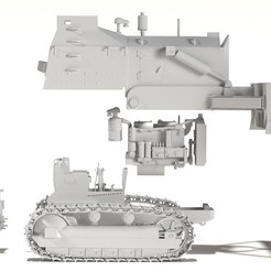 1.jpg Download STL file Armour Bulldozer Caterpillar D7 • 3D print object, payo