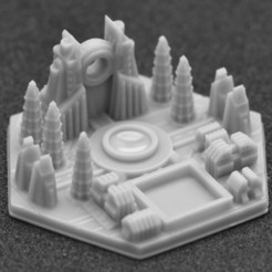 miasto 5.jpg Download STL file Terraforming Mars Generic City 5 • 3D printable object, payo