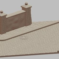 Przechwytywanie.JPG Télécharger fichier STL Rue avec mur • Objet à imprimer en 3D, payo