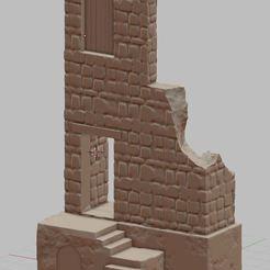 Impresiones 3D Edificio destruido, payo