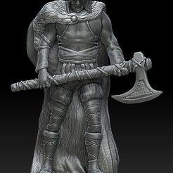 wiking z toporem i irokezem.jpg Télécharger fichier STL Viking #4 • Objet à imprimer en 3D, payo