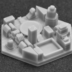 miasto 2.jpg Download STL file Terraforming Mars Generic City 2 • 3D print object, payo