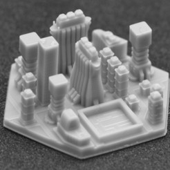 miasto 4.jpg Download STL file Terraforming Mars Generic City 4 • 3D printing object, payo