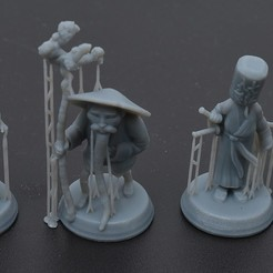 """Download 3D printing templates Hirosige for game """"Tokaido""""., payo"""