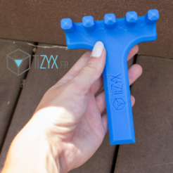Free 3D print files beach rake, TiZYX-fr