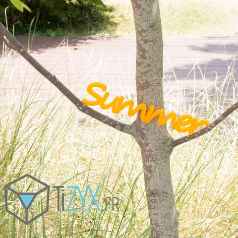 Free STL file summer writing, TiZYX-fr