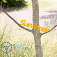 summer.png Download free STL file summer writing • Design to 3D print, TiZYX-fr