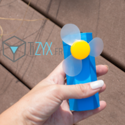 Download free 3D printer designs pocket fan, TiZYX-fr