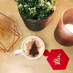 STL gratuit Décoration de café - Sapin de Noël, TiZYX-fr