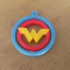 Free Wonder Woman Ginble KeyChain 3D printer file, jeanjhvd