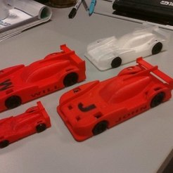 Download free 3D printer designs Customized Le Mans Nissan Prototype, MakersBox