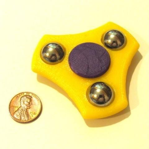 Diseños 3D gratis Compact Fidget Spinner, MakersBox