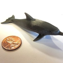 Download free 3D printing templates Dolphin split for printing, MakersBox