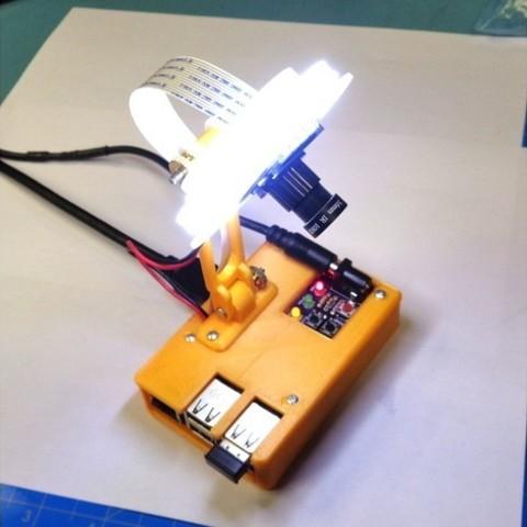 Free 3d printer designs RPi Macroscope, MakersBox