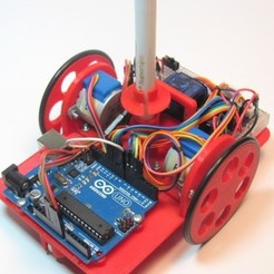 Free 3D printer designs Arduino Chassis for Drawing Robot, MakersBox