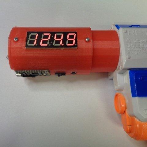 Télécharger plan imprimante 3D gatuit Adaptateur Nerf Barrel pour chronographe, MakersBox