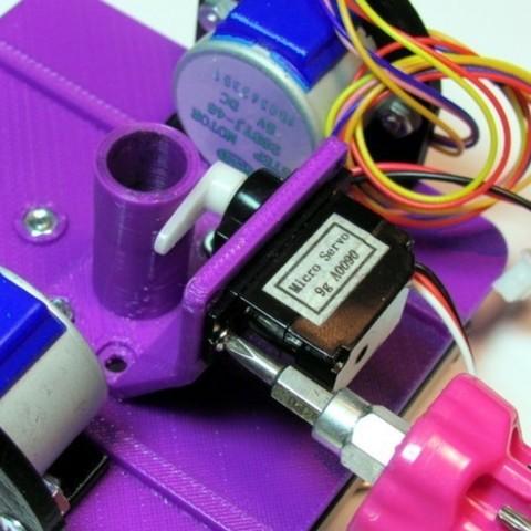 Free Pen Holder / Servo Bracket / Pen Collar 3D printer file, MakersBox