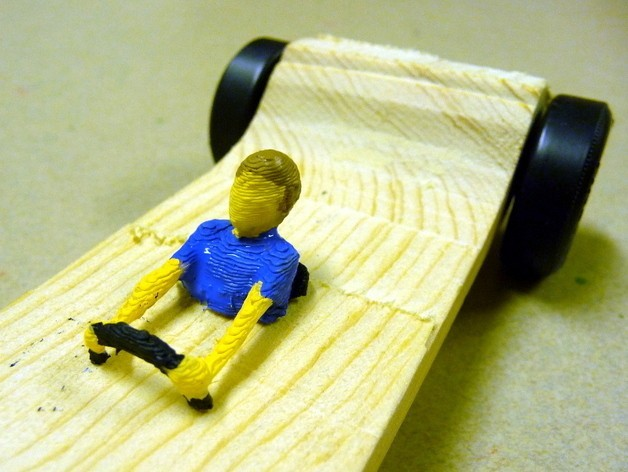 Driver_painted_preview_featured.jpg Download free STL file Pinewood Derby Driver Collection • 3D printer template, MakersBox