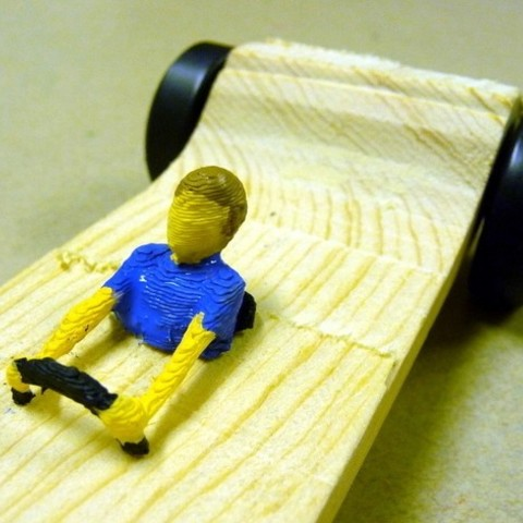 Download free 3D printer templates Pinewood Derby Driver Collection, MakersBox