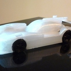 Download free 3D printer model Nissan Le-mans Prototype remix, MakersBox
