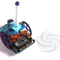 Download free 3D printing designs Open Source Turtle Robot, MakersBox