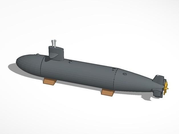 submarine_preview_featured.jpg Télécharger fichier STL gratuit Sous-marin • Objet imprimable en 3D, MakersBox