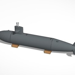 Download free 3D printing templates Submarine, MakersBox