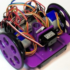 Free 3D printer designs Chassis for Drawing Robot, MakersBox