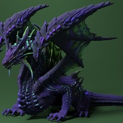 dragon_colour.jpg Download 3MF file Dragon • 3D printable model, welbot