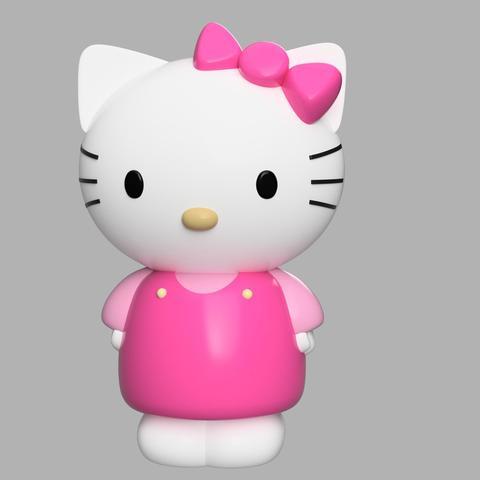 Diseños 3D gratis Hello Kitty, welbot