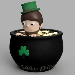Descargar archivos 3D Leprechaun & Pot O Contenedor de Oro, welbot